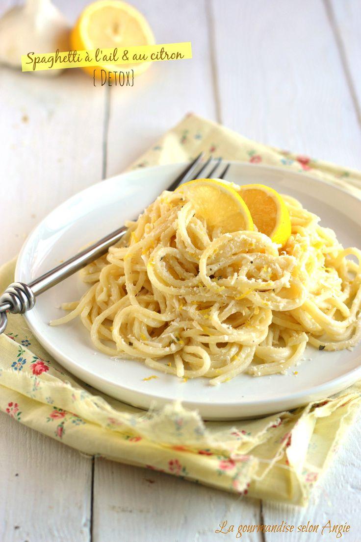 recette detox - spaghetti à l'ail et au citron 2