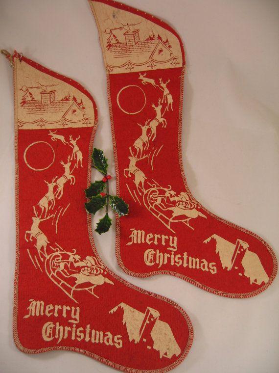 Midcentury Stenciled Santa Sleigh Stenciled by ScratchThatKitsch, $15.00
