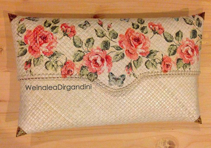 Simple and lovely decoupage clutch by Weinalea Dirgandini