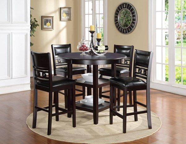 New Classic Furniture Gia 5pc Counter Dining Set Black Dining