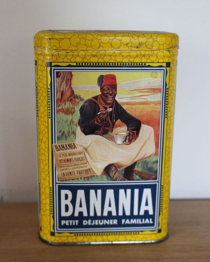 Vintage French Banania tin, sucre by SAMANTHATENN on Etsy