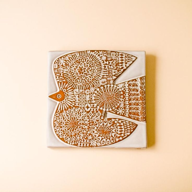 ceramic bird tile