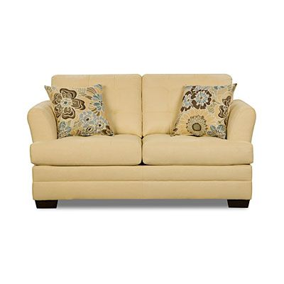simmons loveseat. simmons™ velocity maize loveseat with flower power breeze pillows at big lots. simmons a