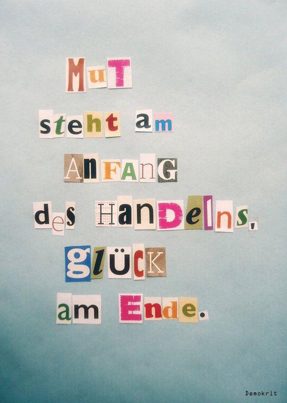 Postkarte Mut von HERZallerliebste auf Etsy, €1,50