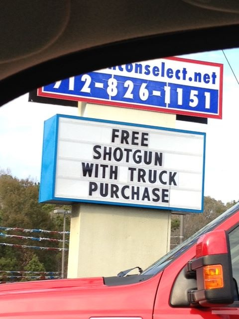 Meanwhile Somewhere In The South (found this on the 'popular' category on pinterest and noticed that that phone number looked familiar.. then realized this was in Effingham..)