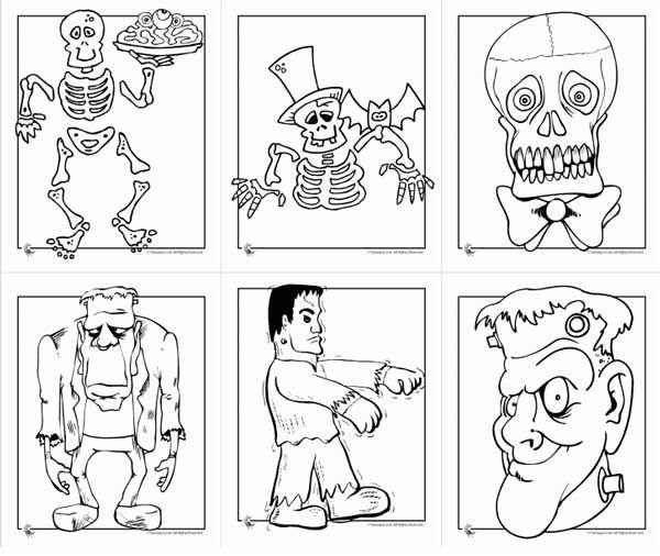 Dibujos de Halloween para colorear e imprimir gratis