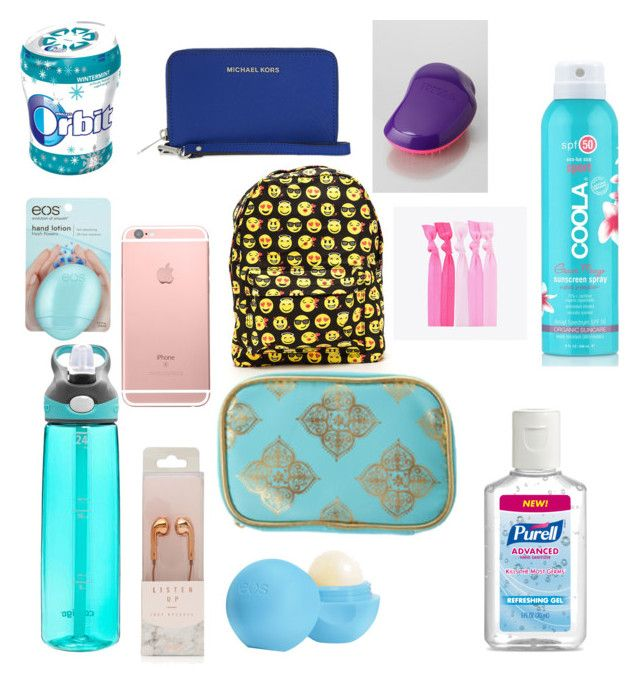 """Amusement Park Bag"" by josiasashlee on Polyvore featuring claire's, Eos, Contigo, MICHAEL Michael Kors, Tangle Teezer, COOLA Suncare and Popband"
