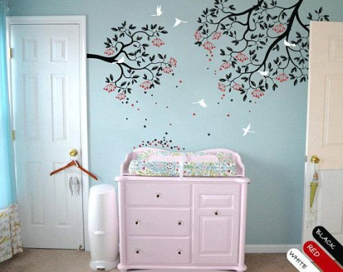 Get It Now Modern Nursery Branches Wall Decal Vinyl Wall Sticker