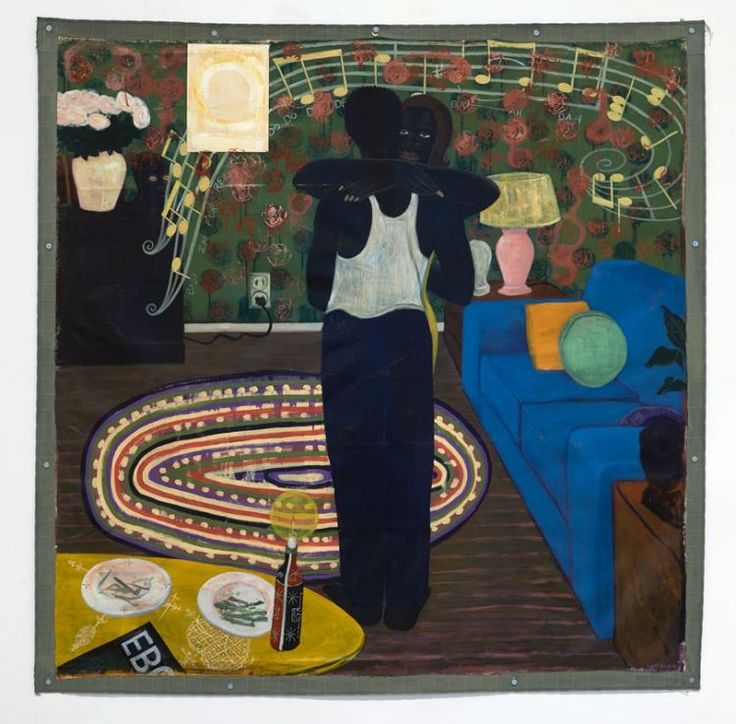 Kerry James Marshall - Slow Dance (Full View Install At Reina Sofia).