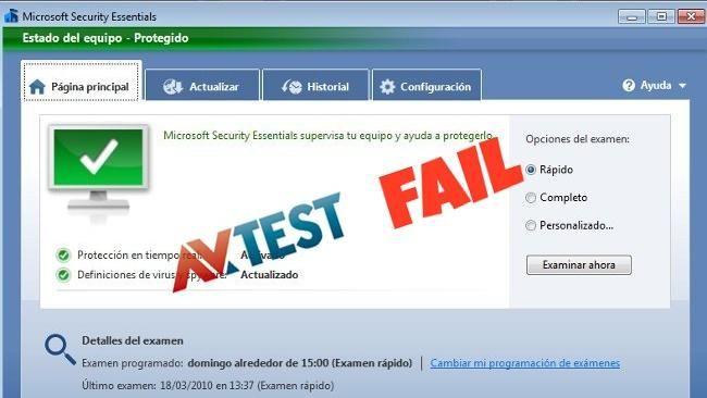 Microsoft Security Essentials vuelve a suspender de nuevo la certificación AV-Test  http://www.genbeta.com/p/73887