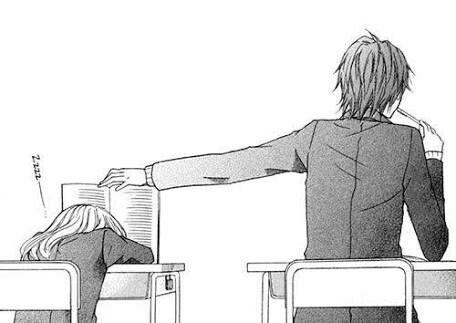#Anime #couple #black #and #white