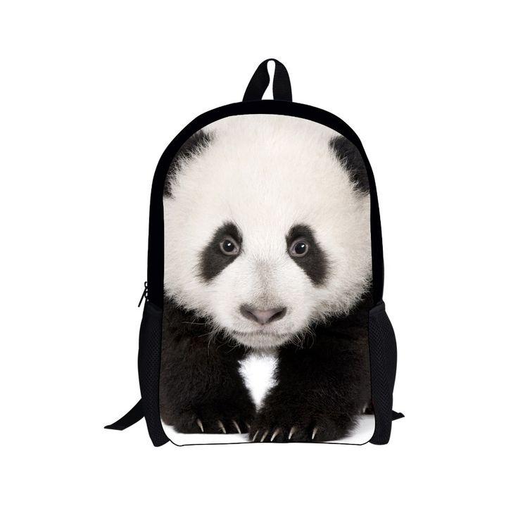 Cute student children panda cat backpack for kids animal pug dog backpack casual teenager girls women tourism backbag mochila