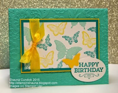 Bold Butterfly Birthday - Stampin' Up's Papillon Potpourri (love the colour combo)