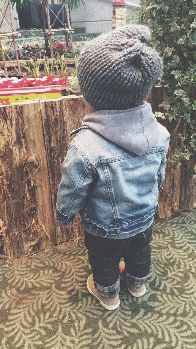 Could easily do this with pieces from Ronny's wardrobe... #flannel #jeanjacket #knitcap