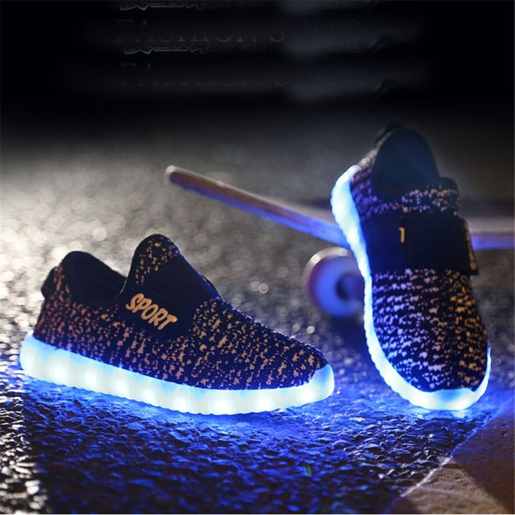 Yeezy Zapatos LED Con Velcro Para Bebé
