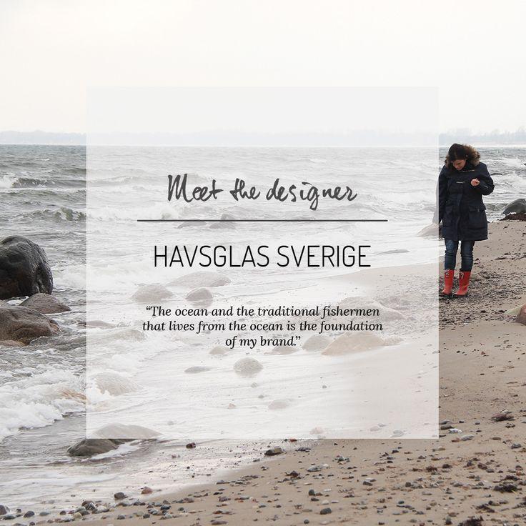Meet the designer: Havsglas Sverige. More in our blog: http://blogg.nordicdesigncollective.se/meet-the-designer-havsglas-sverige/  #designwithastory #nordicdesigncollective #designers #nordicdesign #swedishdesign