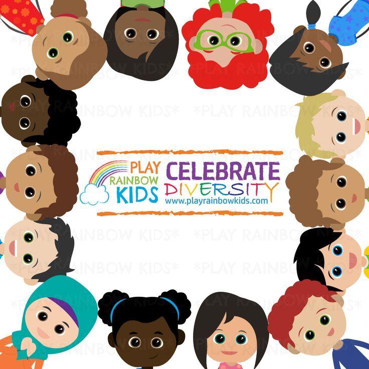 Kids Diversity Clipart In 2021 Kids Clipart Rainbow Kids Clip Art