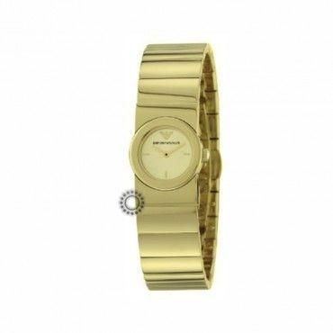 Γυναικείο quartz ρολόι EMPORIO ARMANI μικρό με επίχρυσο μπρασελέ σαν κόσμημα | Γυναικεία ρολόγια EMPORIO ARMANI στο κατάστημα ΤΣΑΛΔΑΡΗΣ στο Χαλάνδρι #Emporio #Armani #ατσαλι #μπρασελε #ρολοι
