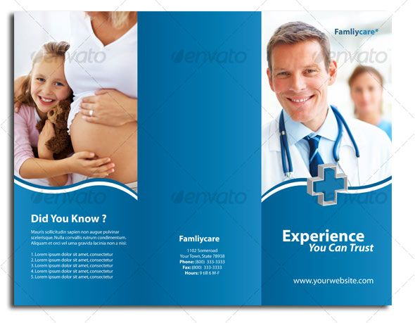 The Best Medical Brochure Ideas On Pinterest Brochure Layout - Health brochure templates