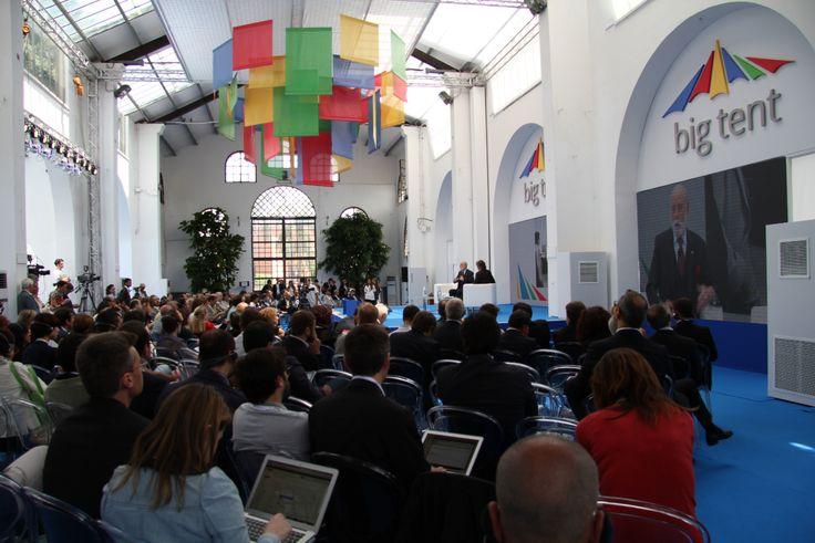 Vice President and Chief Internet Evangelist of #Google Vinton G. Cerf at #BigTentRoma. Concept and secretariat: #TriumphGroupInt.