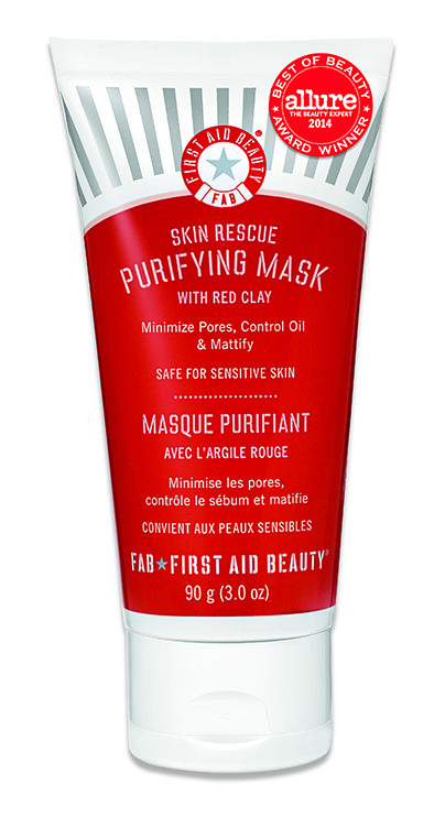 First Aid Beauty Skin Rescue Purifying Mask with Red Clay: purifying mask to detoxify and reduce pores