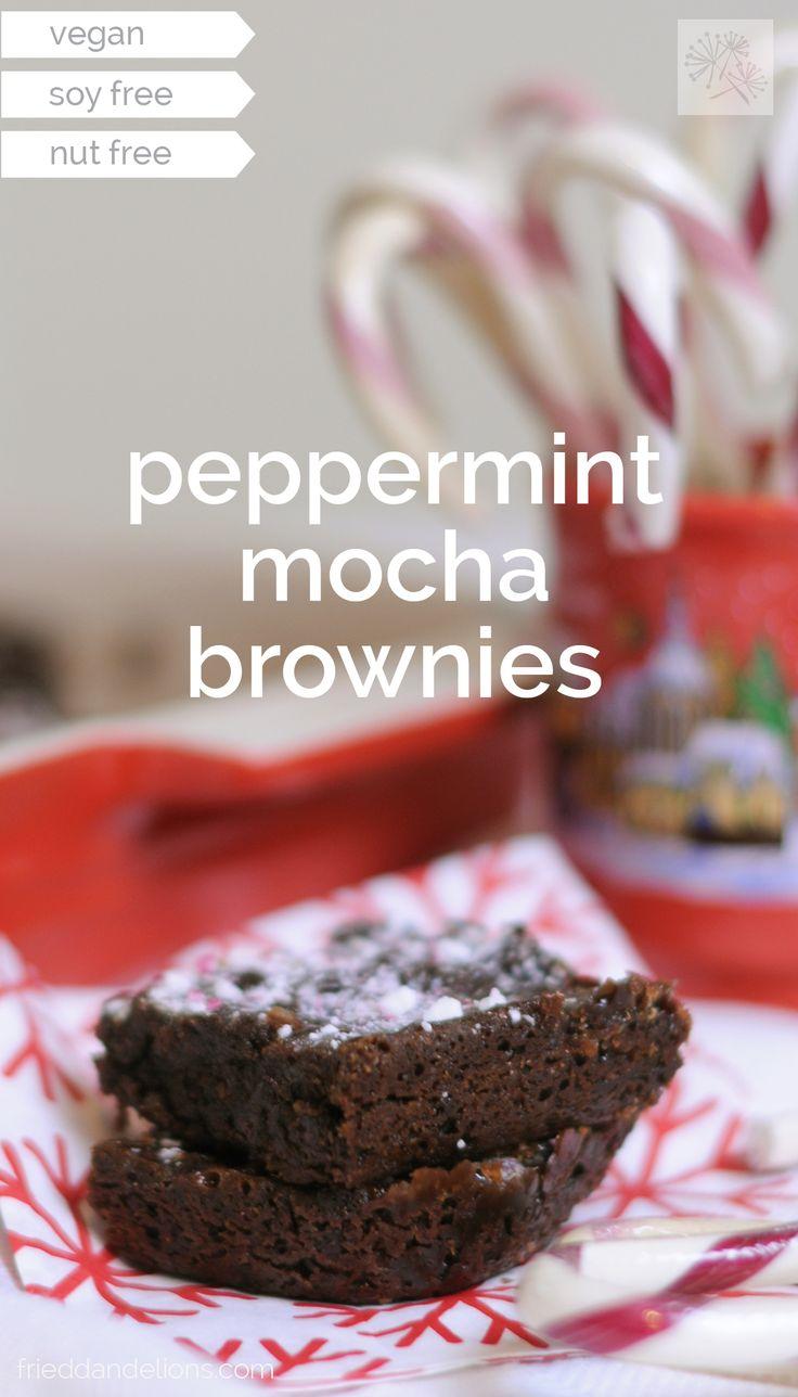 fried dandelions // peppermint mocha brownies: