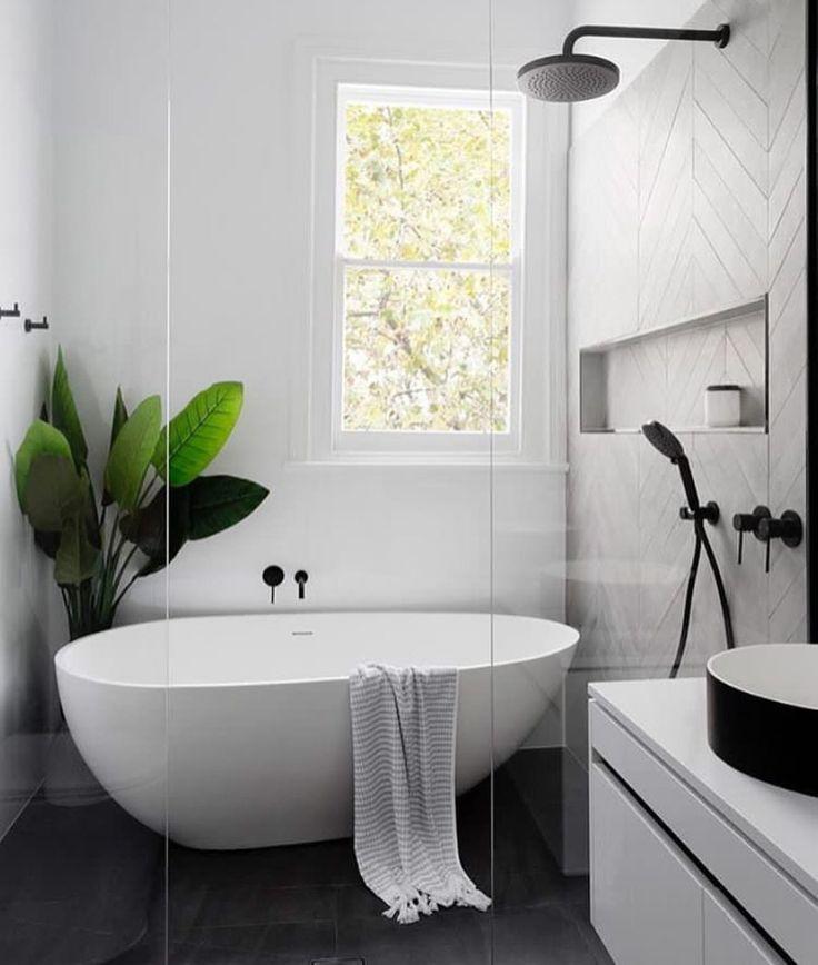 4 359 Likes 64 Comments Norsu Interiors Norsuinteriors On Instagram Spending The Night Pl Modern Farmhouse Bathroom Bathroom Design Laundry In Bathroom