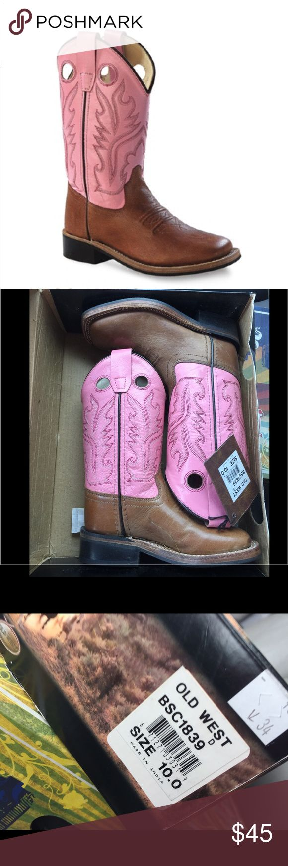 NWT OLD WEST BOOTS Little girls size 10 old west cowboy boots. New with tag, in box. Shoes Boots