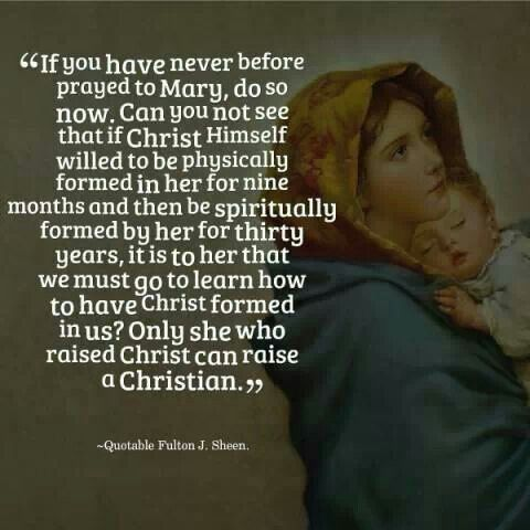Not to worship her as she isn't Christ but appreciate her all the same.