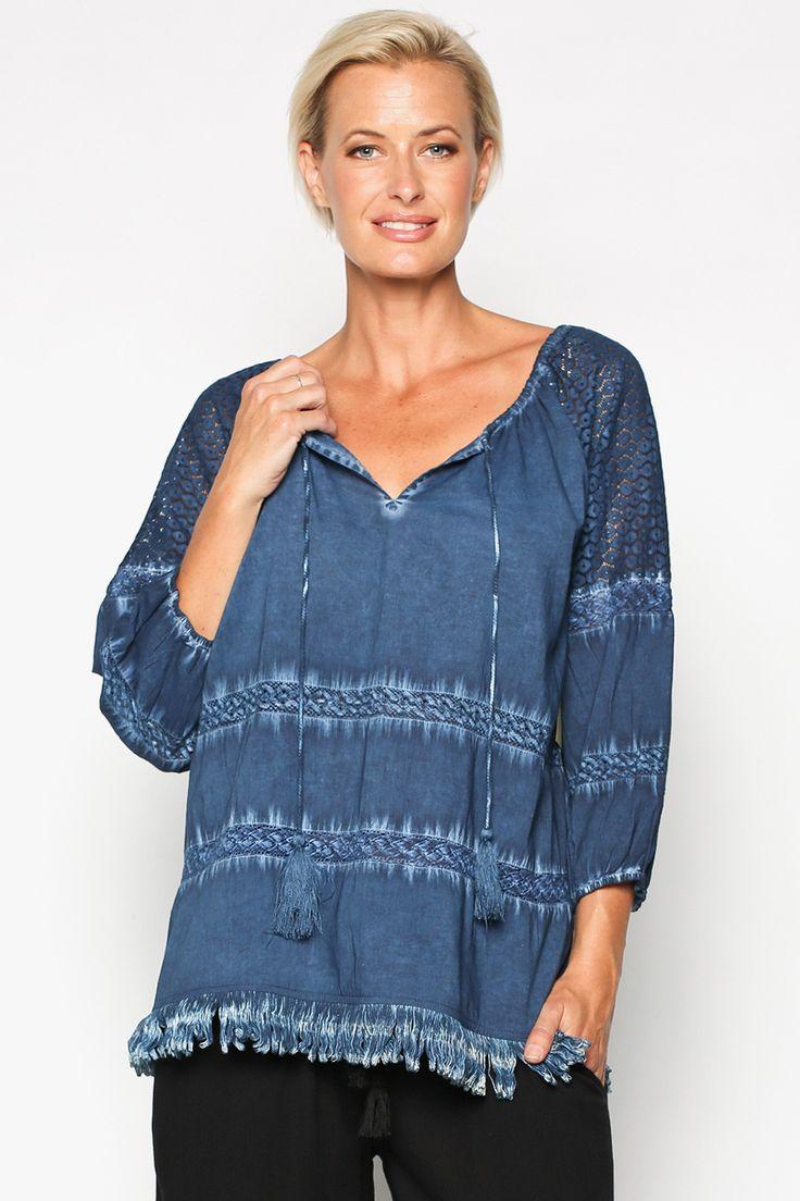 Hemani Top in Indigo – Adrift Clothing