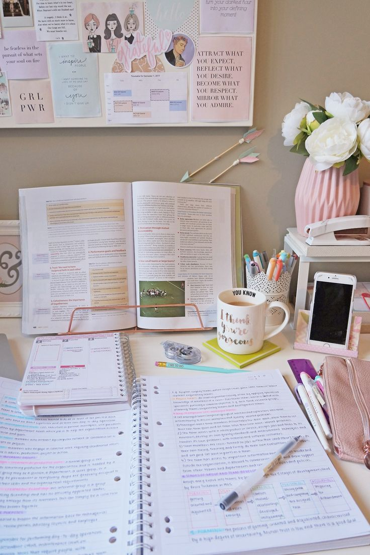 7.3.17 // ✌ Getting back into the grind with some notes for my Principles of Management unit and of course, a cup of tea. (It may or may not be my third for the day.)