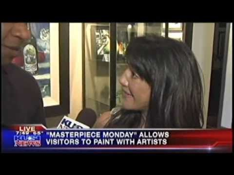 KUSI's Brad Perry Paints for Masterpiece Monday October, 2013