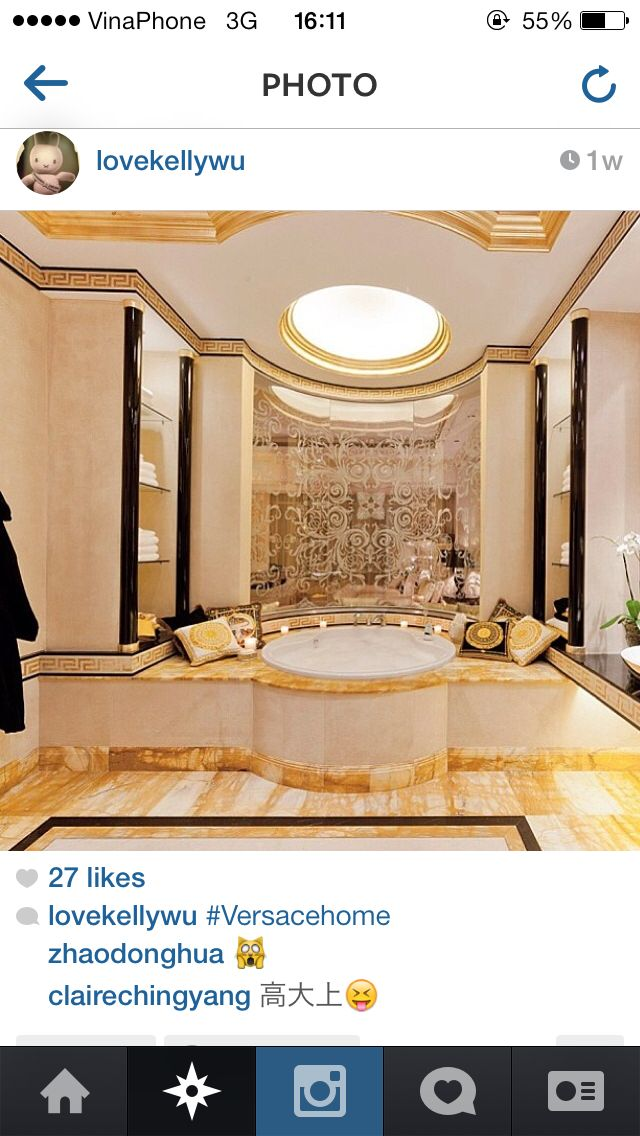 17 best images about decor versace home on pinterest for Versace pool design