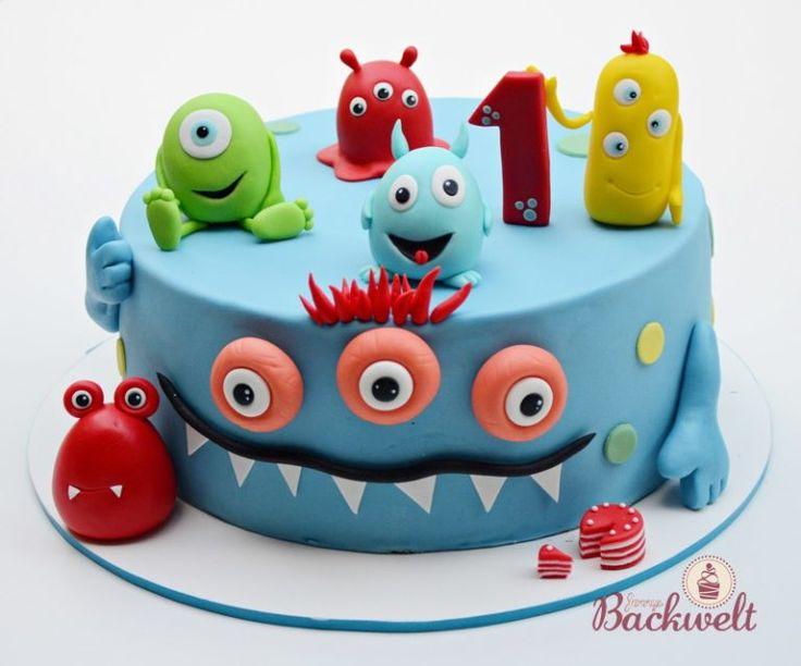 Die Monster sind weg – Cupcakes mit süßen kleinen Monstern – Jennys Torte   – Meine Torten und Werke