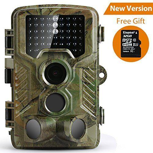 Caméra de Chasse,Coolife Caméra de Surveillance Etanche 49 LED 16MP 1080P HD Avec Accéléré 25m/82ft 125 ° Grand Angle De Vision Nocturne…