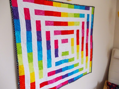 Spectrum - finished rainbow quilt!