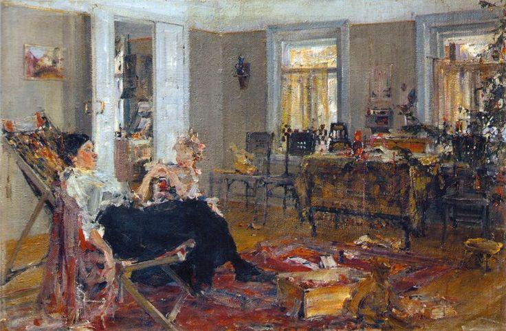 """Николай Фешин """"Елка"""", 1917"""