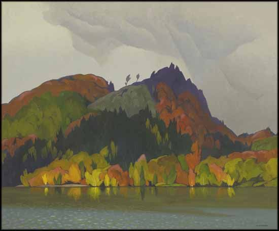 Alfred Joseph (A.J.) Casson - Hills in Autumn 30 x 36 oil on canvas