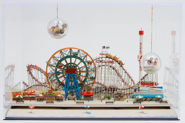 Coney Island Paper Sculpture by Yumiko Matsui | strictlypaper