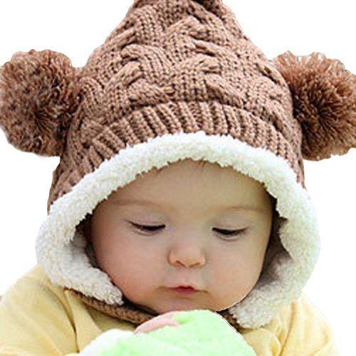 I want this!  LOCOMO Baby Infant Boy Girl Knit Crochet Rib Pom Pom Winter Hat Cap Hood Warm FBA008BRN Brown LOCOMO Baby Fashion Accessories,http://www.amazon.com/dp/B009R40Q2W/ref=cm_sw_r_pi_dp_e.t8rb1H4N7G21DK