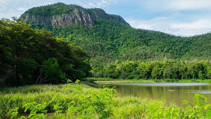 Landscape, Mountains, Lake, North Thailand