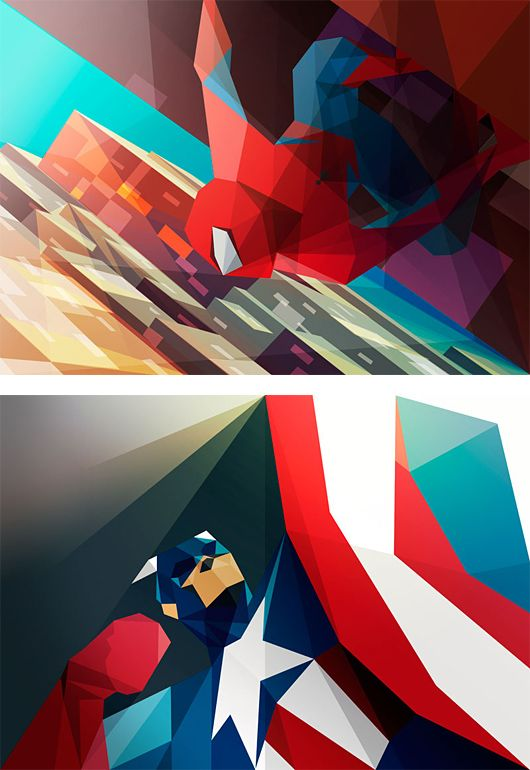 New Polygonal Illustrations by Liam Brazier