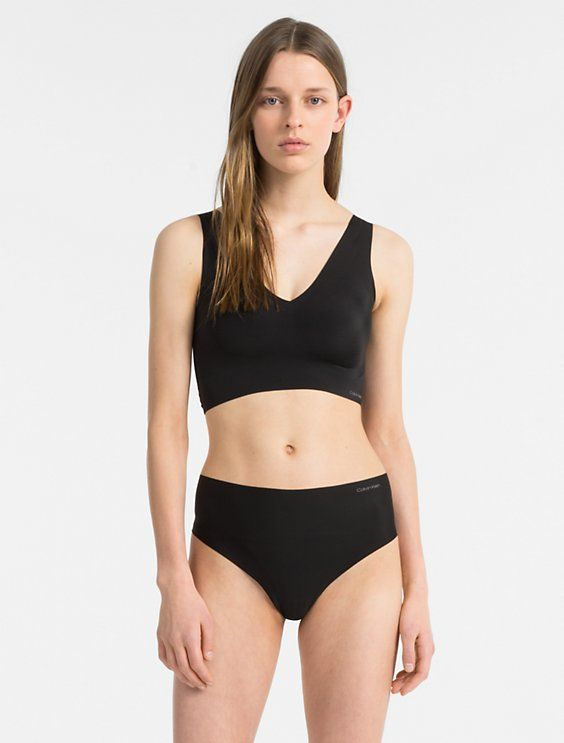 3f16496791 Image for invisibles lightly lined v-neck bralette + high waist thong from Calvin  Klein size small