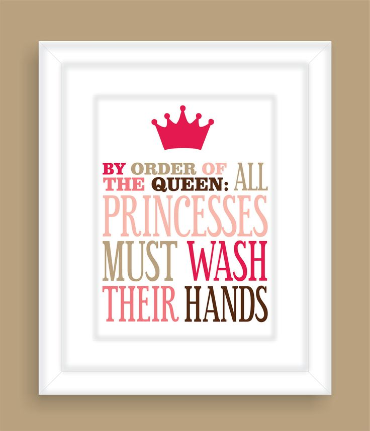 Princess Bathroom Art Print Girls bathroom wall by FieldandFlower, $12.00 maybe she will have her own bathroom one day... and when she does, she will have this sign!