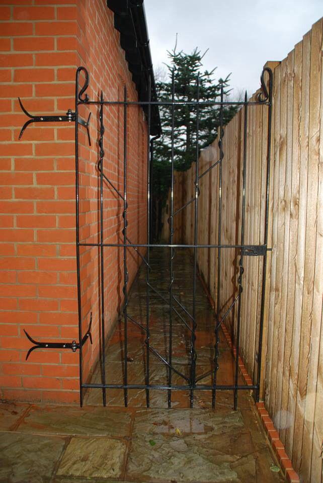 A bespoke hand forged gate