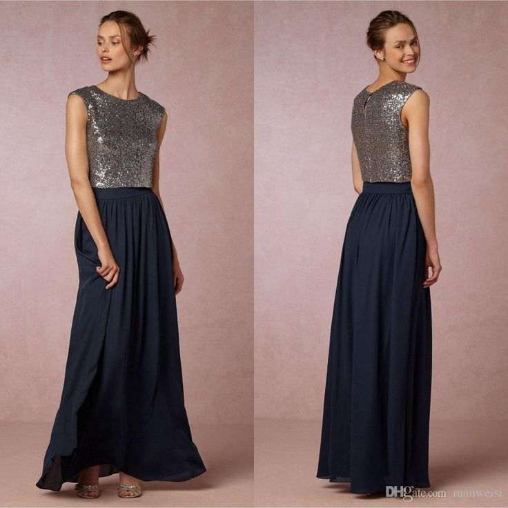 Bhldn Two Pieces Sequins Country Bridesmaid Dresses Cheap Jewel Neck Sleeveless Floor Length Plus Size Long Bridesmaid Dress Cheap Modest Bridesmaid Dresses Contemporary Bridesmaid Dresses From Manweisi, $82.02| Dhgate.Com