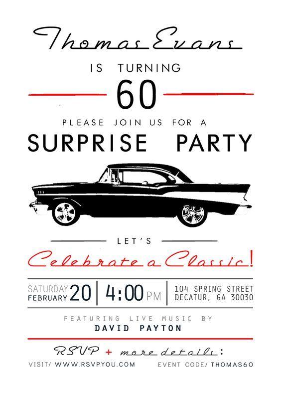60th Birthday Party | Custom Invitations by Jordan Evans Design