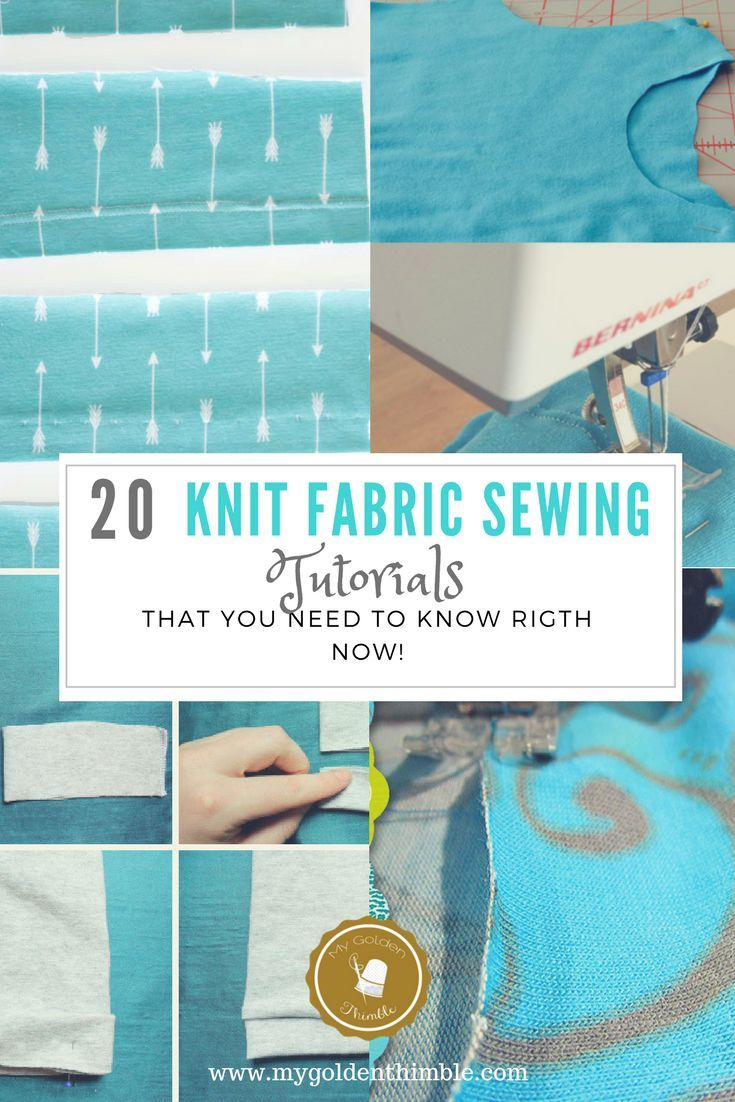 33ec7498c460 20 Tutorials you Need to Know about Sewing Knit Fabrics