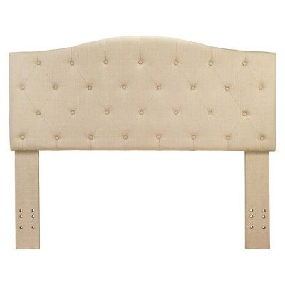 Delphi Button Tufted Adjustable Linen Headboard Ivory Twin - Furniture of America, Classic Ivory