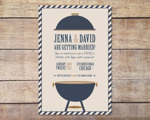 Fun Engagement BBQ Invitation (Digital File)
